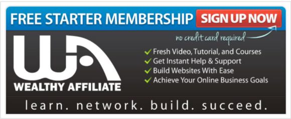 Wealthy Affiliate Free Membership Banner