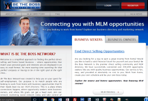screen shot of Be The Boss Network website