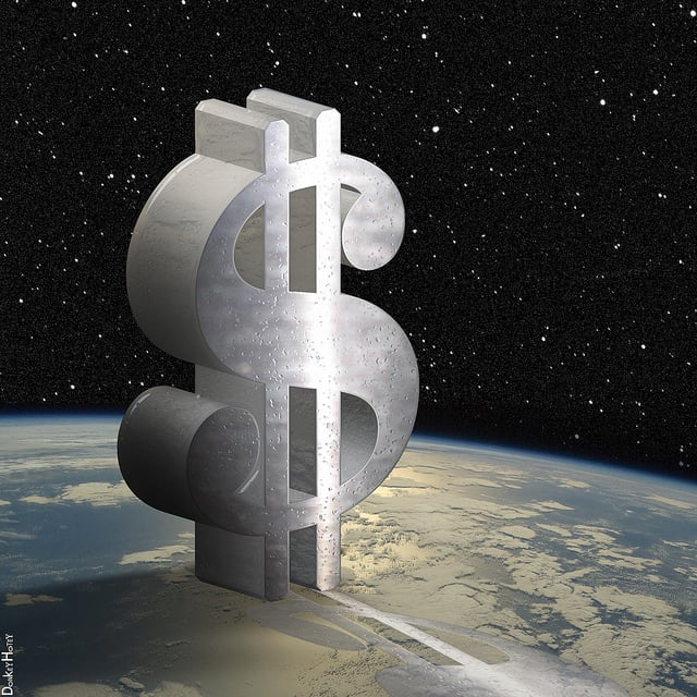Dollar Sign in Space by DonkeyHotey