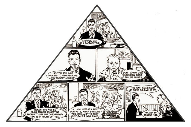 what is a pyramid scheme about