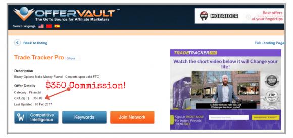 Trade Tracker Pro OfferVault