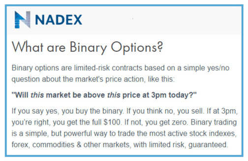 the best binary options insights training