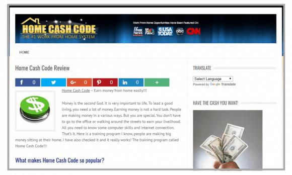 Home Cash Code website