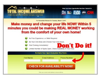 Home Profit System opt-in form