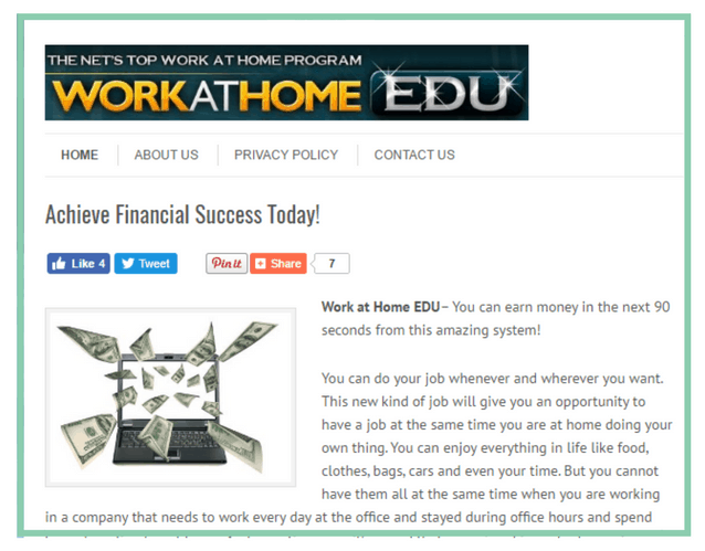 What is Work at Home EDU