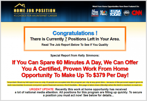 What is Home Job Position? Is Home Job Position a Scam? A Home Job Position Review.