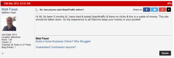 Blast4Traffic Warrior Forum i