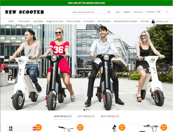 Buy New Scooter Website