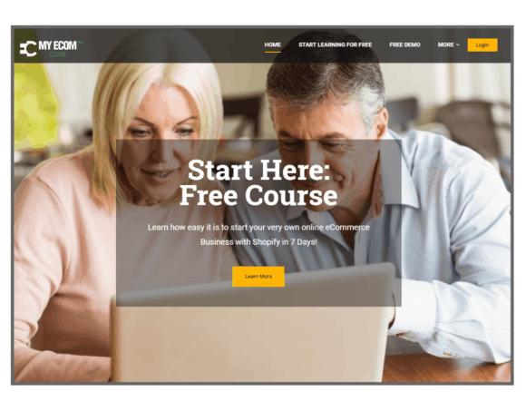 MyEcom Club Website