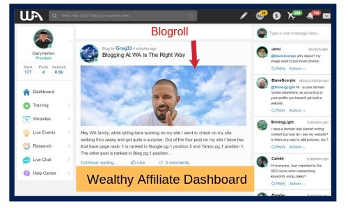 What is Wealthy Affiliate Blogroll