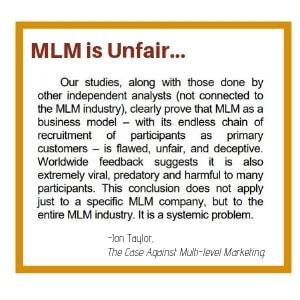 MLM is Unfair...
