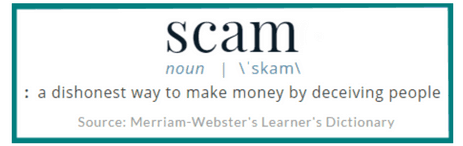 Scam definition shows why Wealthy Affiliate is not a scam.