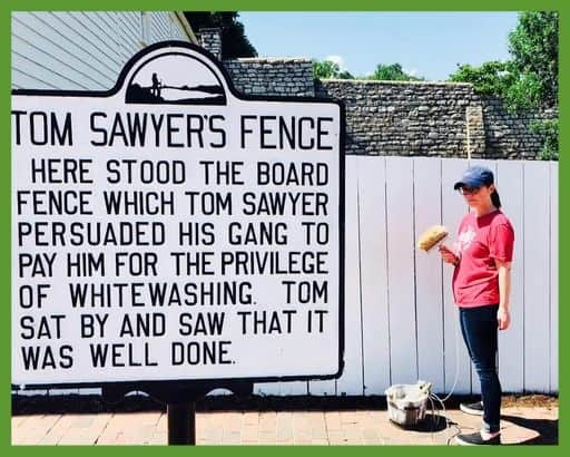 Shaklee is like Tom Sawyer tricking his friends into whitewashing the fence