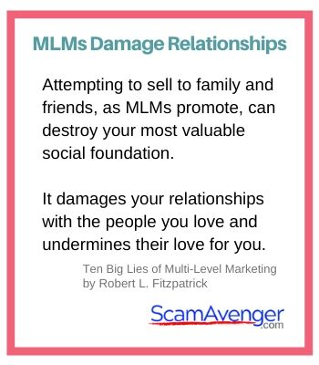 Pure Haven MLMs Damage Relationships