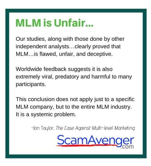 Univera MLM is Unfair