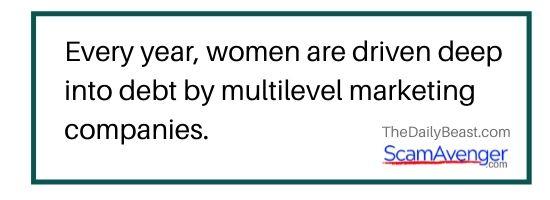 Univera women driven into debt