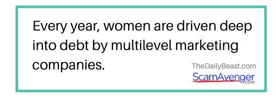 Xyngular Women driven into debt