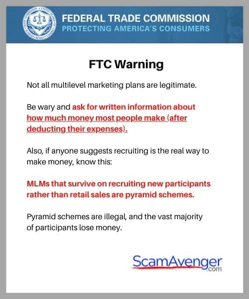 Scentsy FTC MLM Warning