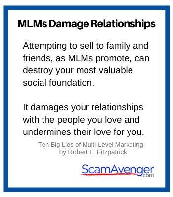 SwissJust MLM damage relationships
