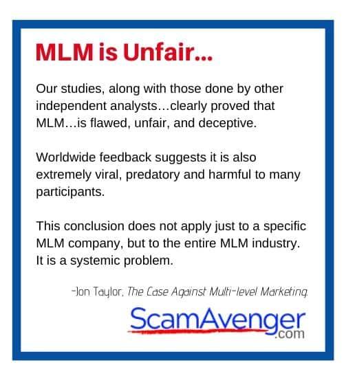 SwissJust MLM is Unfair